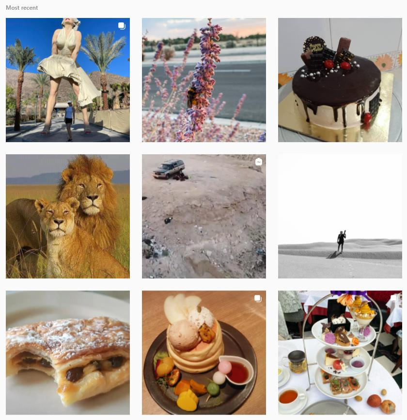 Desert Instagram hashtag page