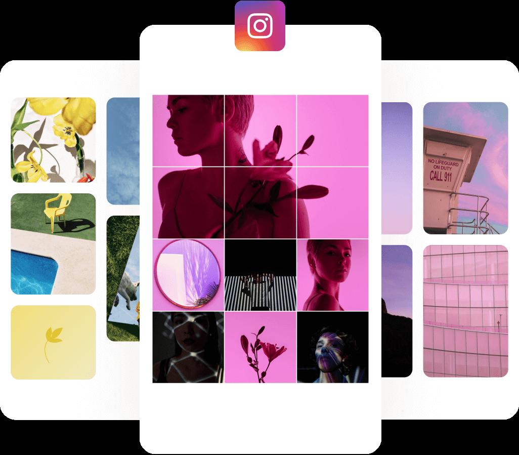 Instagram Phone Graphic