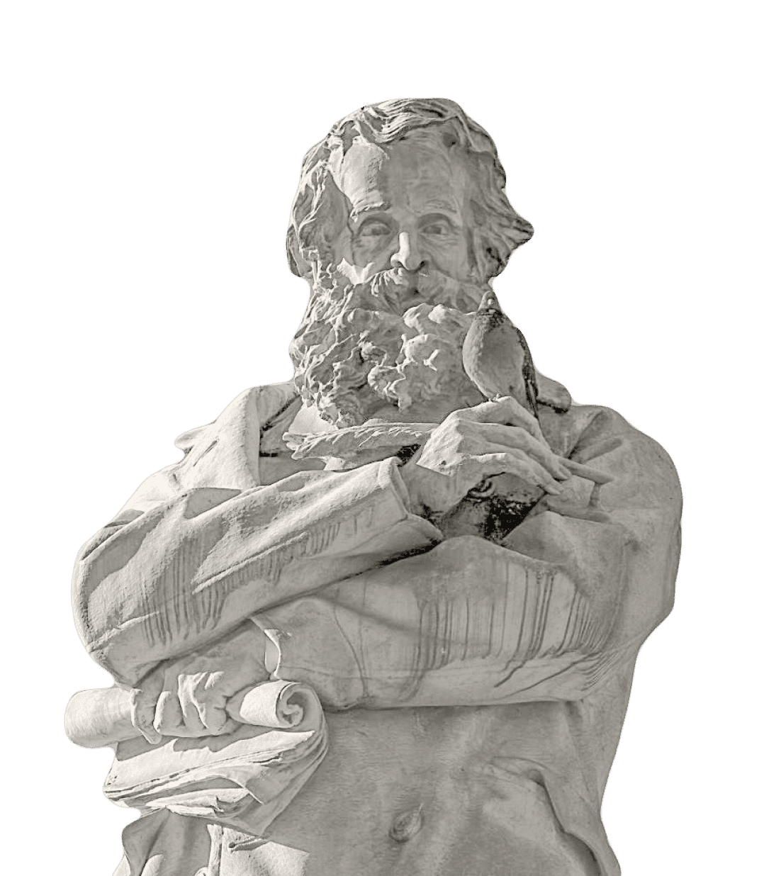 Statue of the great Italian linguist and lexicographer Nicolo Tommaseo erected in the historic Campo Santo Stefano