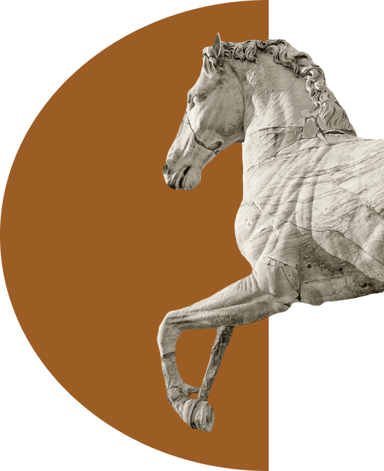 Horse sculpture at the Capitol, Rome