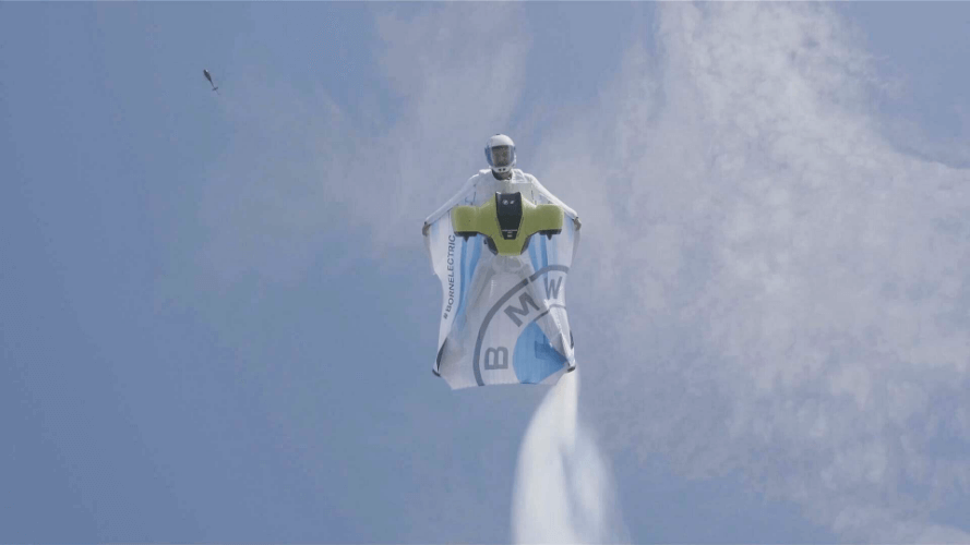 Finn Harries joined Peter Salzmann and the BMW team in 2020 to film Peter's flight with the world's first electrified wingsuit in the Austrian Alps.