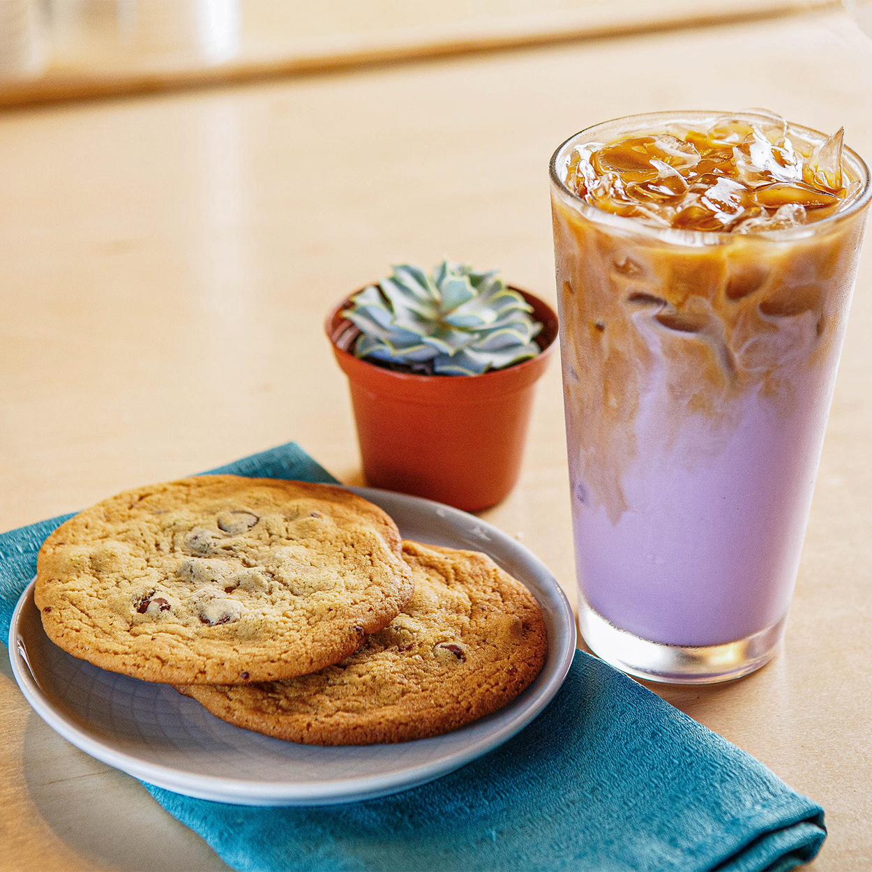 Celadon coffee and cookies
