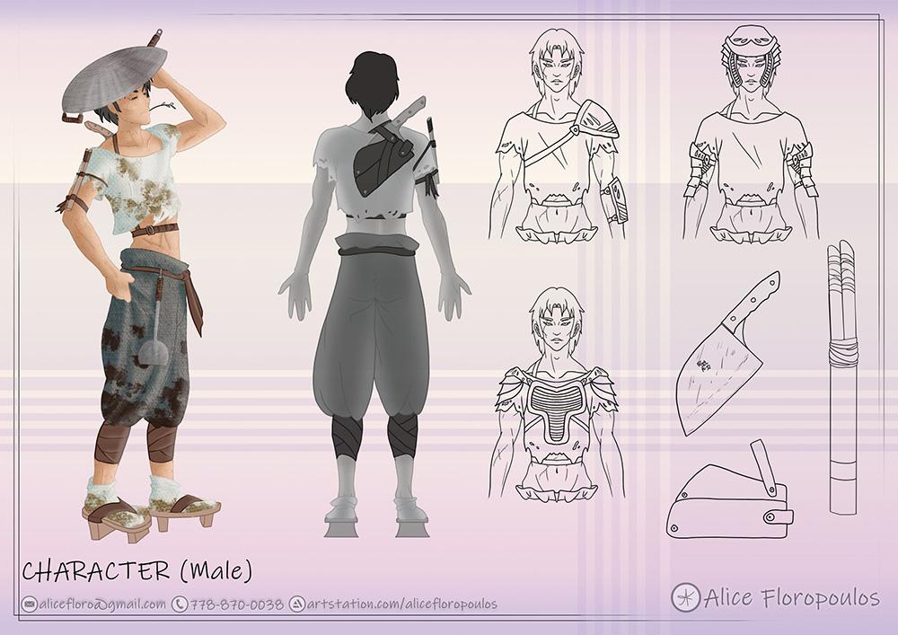 VANAS Concept Art Alice Floropoulos character