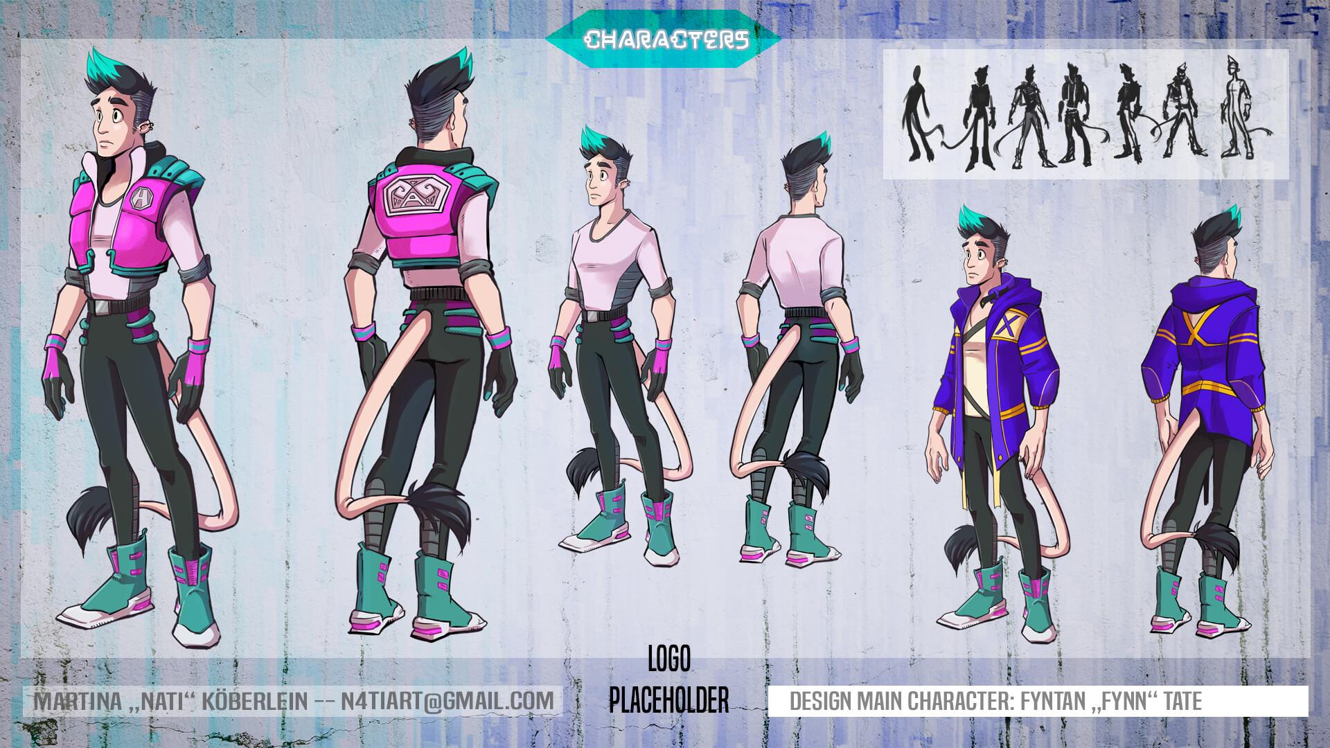 Fynn Character Sheet VANAS Concept Art