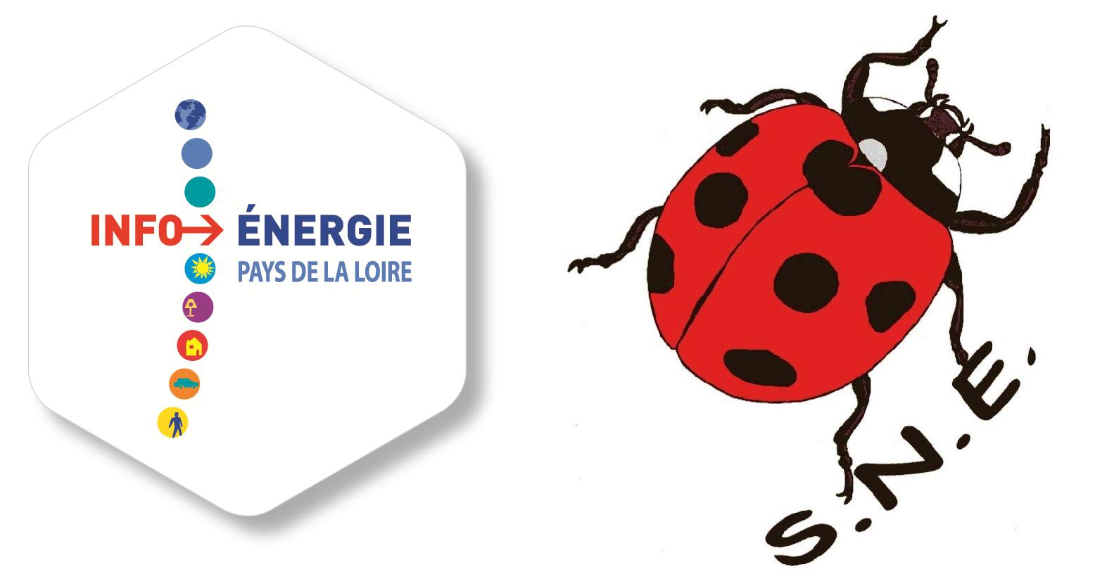 Logo Info Énergie et SNE pour partenaire pour Le Mans Défi Mobilité