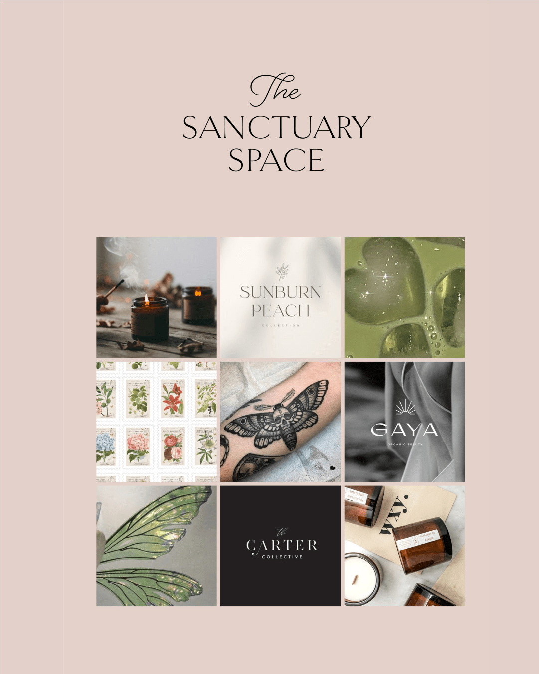The Sanctuary Space Branding Moodboard Chelmsford