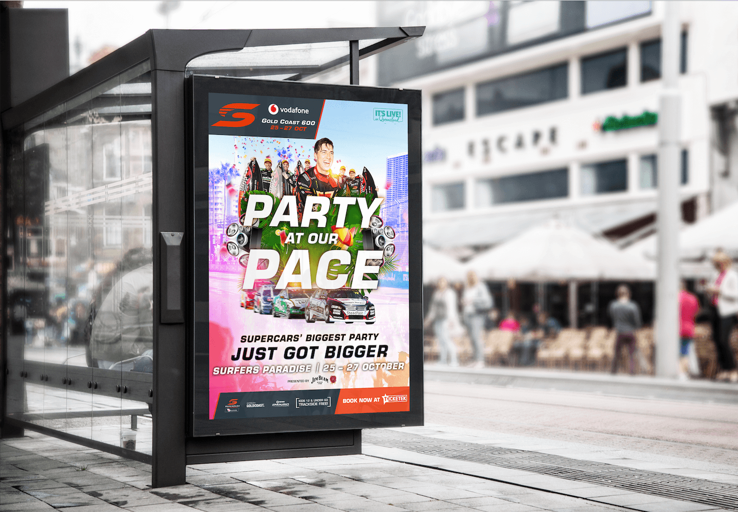 An outdoor ad for the Gold Coast 600 event