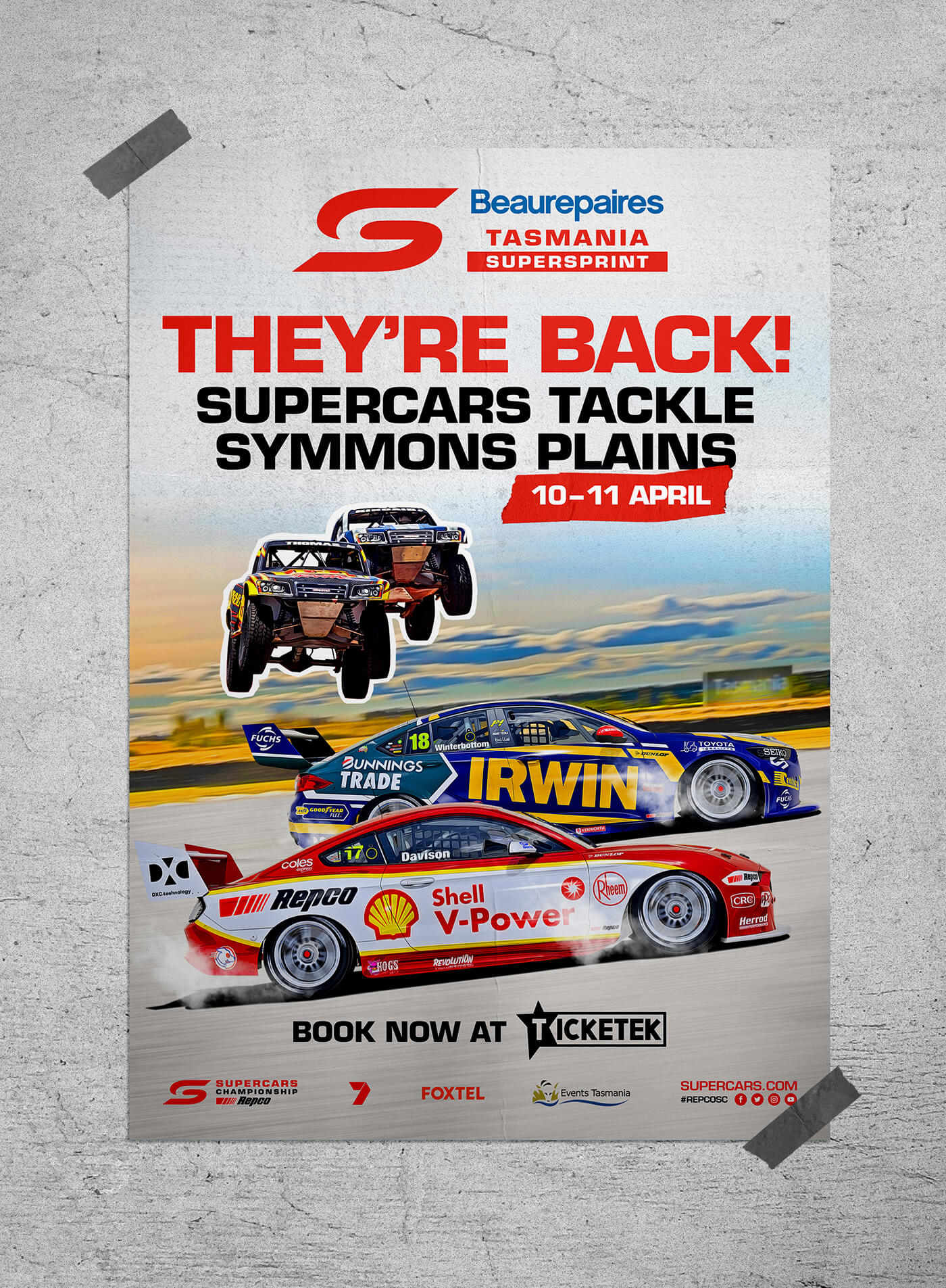 Poster of the Tasmania Supersprint event