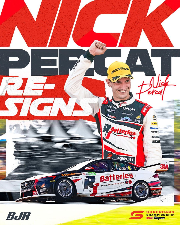 Nick Percat re-signs