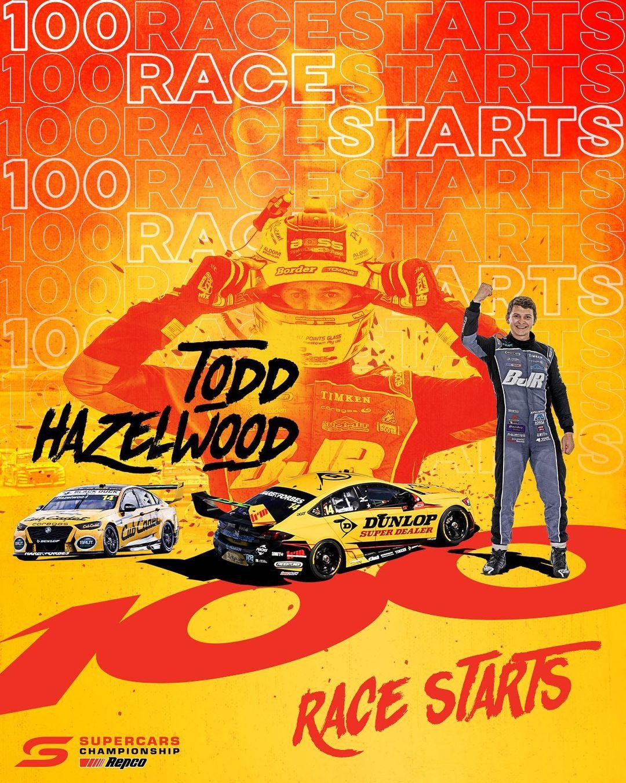 Todd Hazelwood 100 race starts