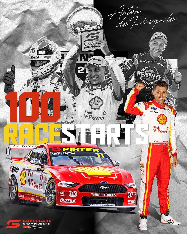 Anton de Pasquale 100 race starts
