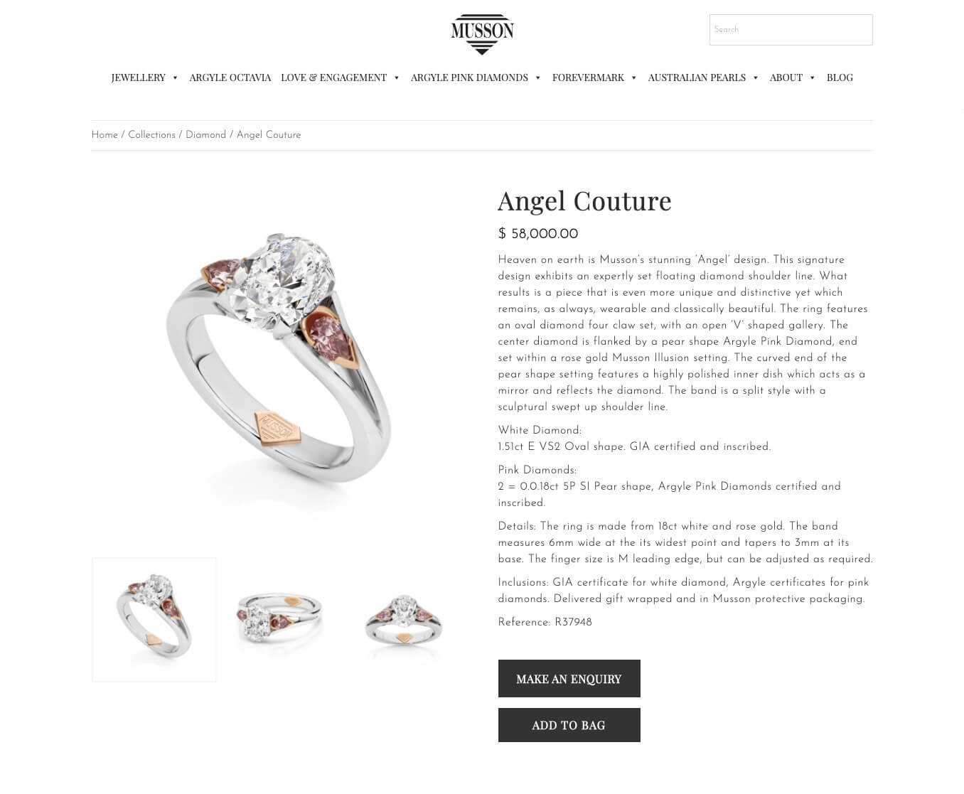 Angel couture ring