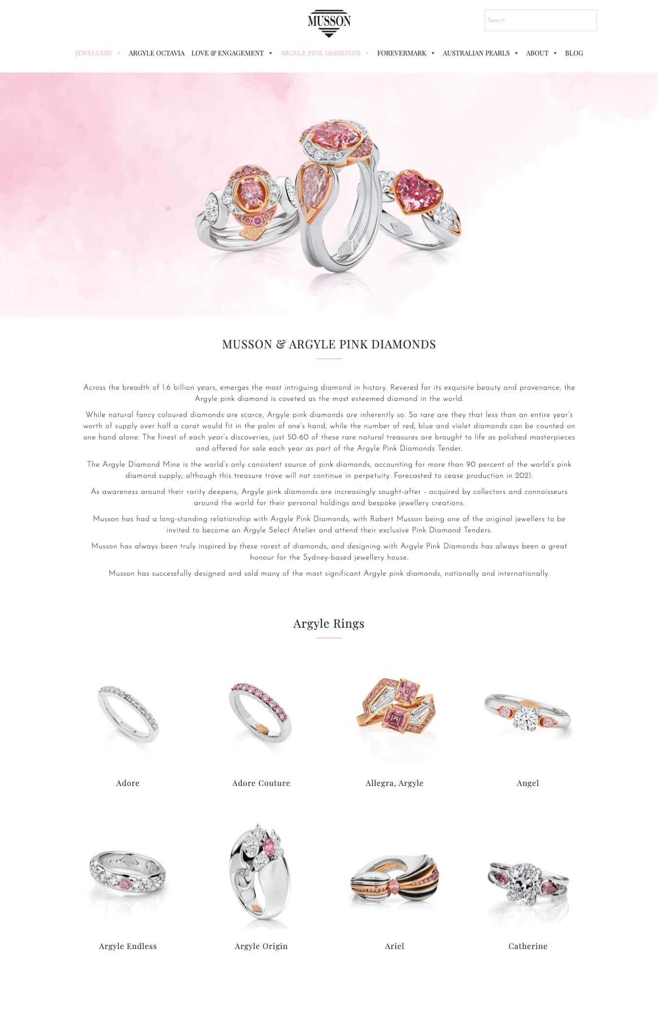 Arygle pink diamonds
