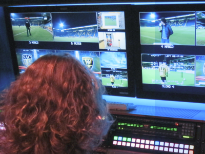 A slow-motion operator during a football game