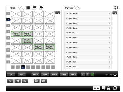 A wireframe on a tablet for EVS