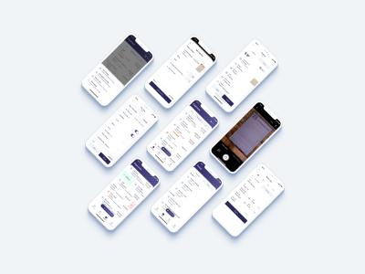 Nine iPhone screenshots showcasing the new Rydoo app.