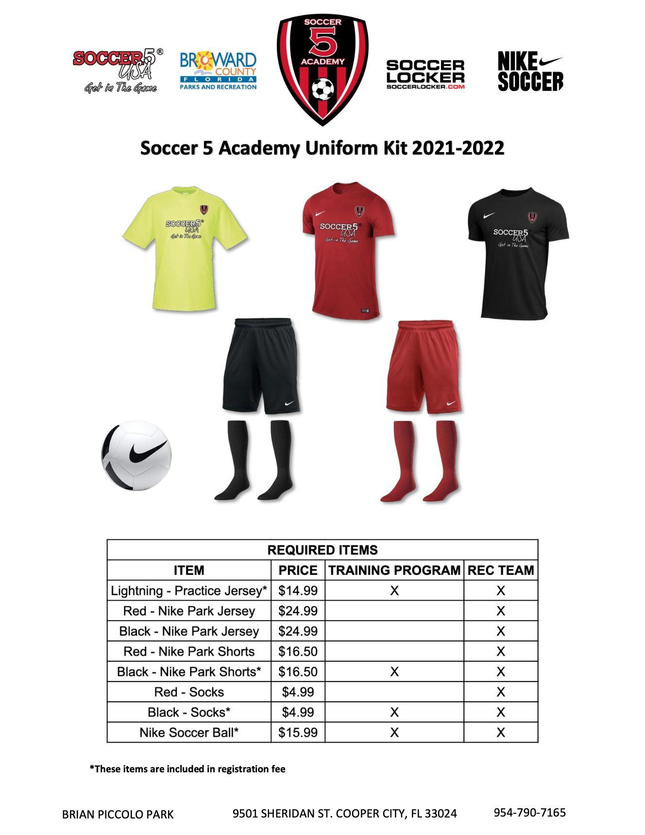 Soccer 5 Brian Piccolo Park Broward Academy 2021-2022 Season Details Part 2