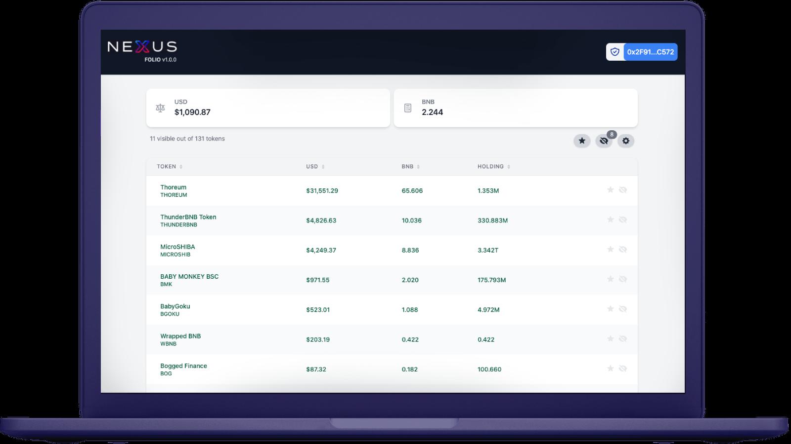 Nexus folio crypto portfolio tracker for desktop