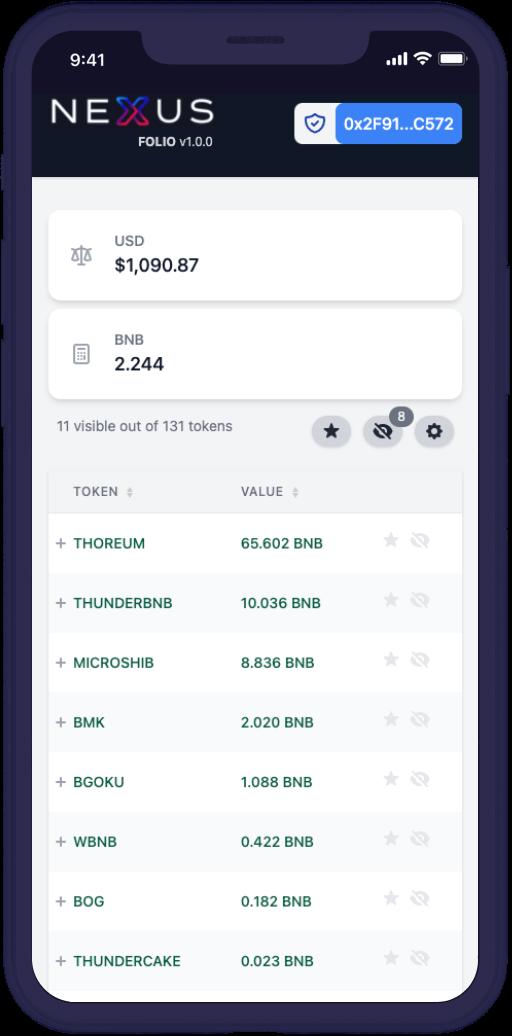 Nexus folio crypto portfolio tracker mobile app