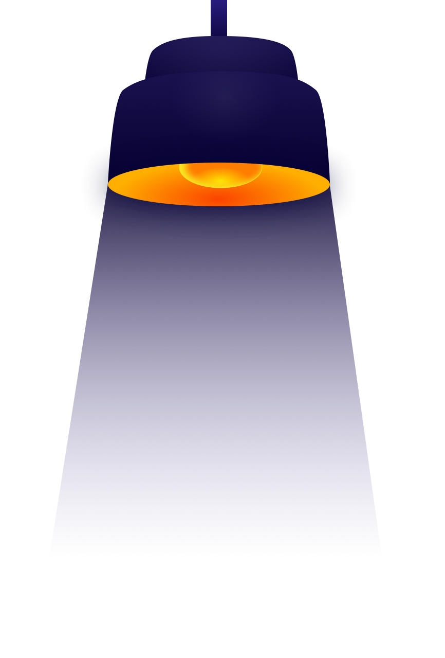 Light hanging from website