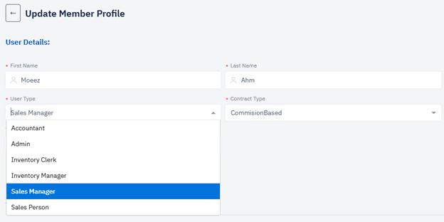Member profile settings