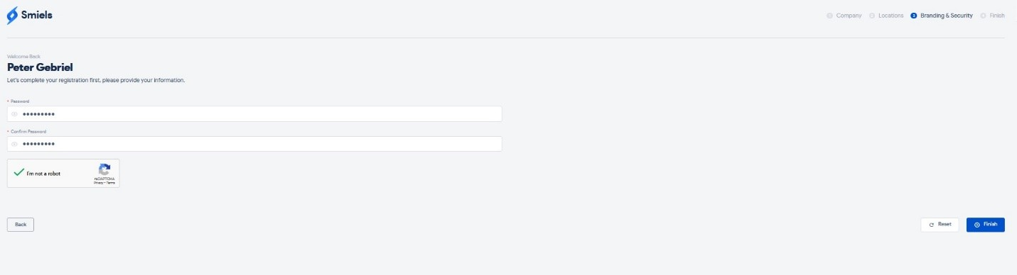 profile password