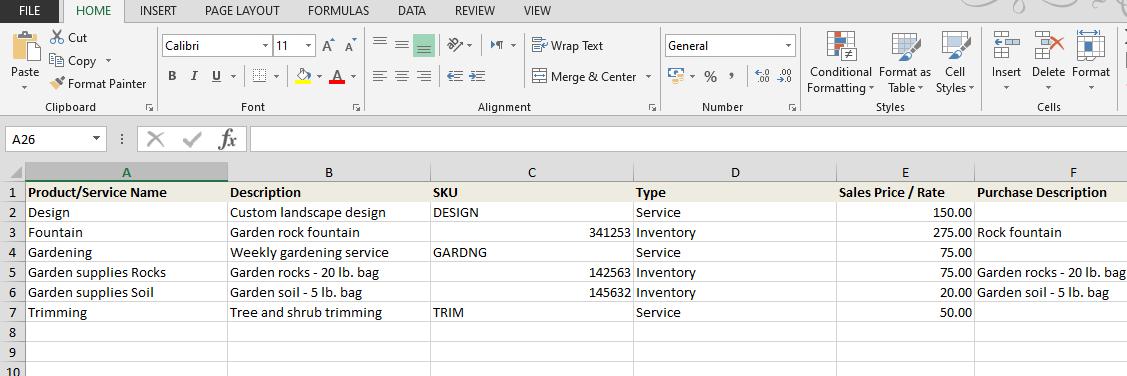 sample import file