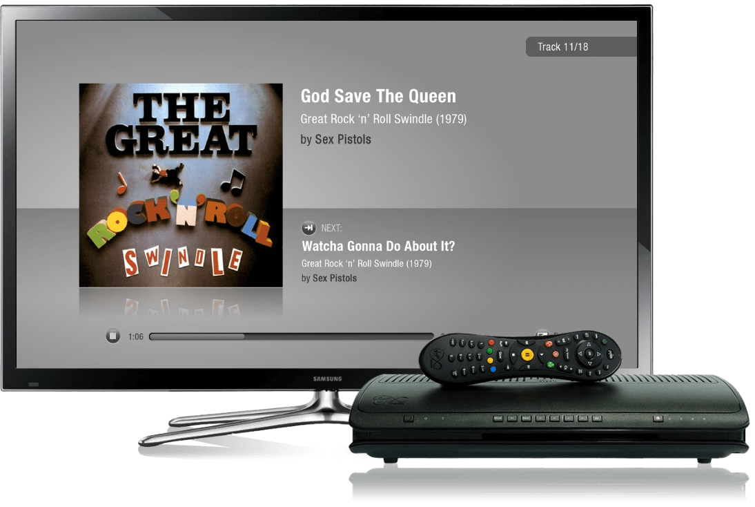 Spotify TV and TiVo Devices