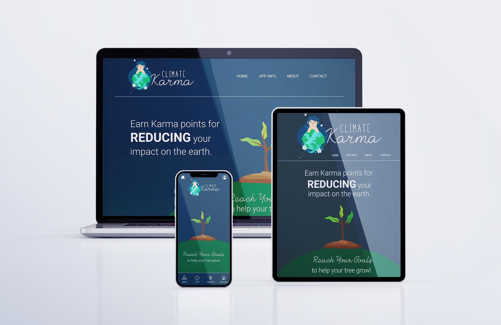Climate Karma App design