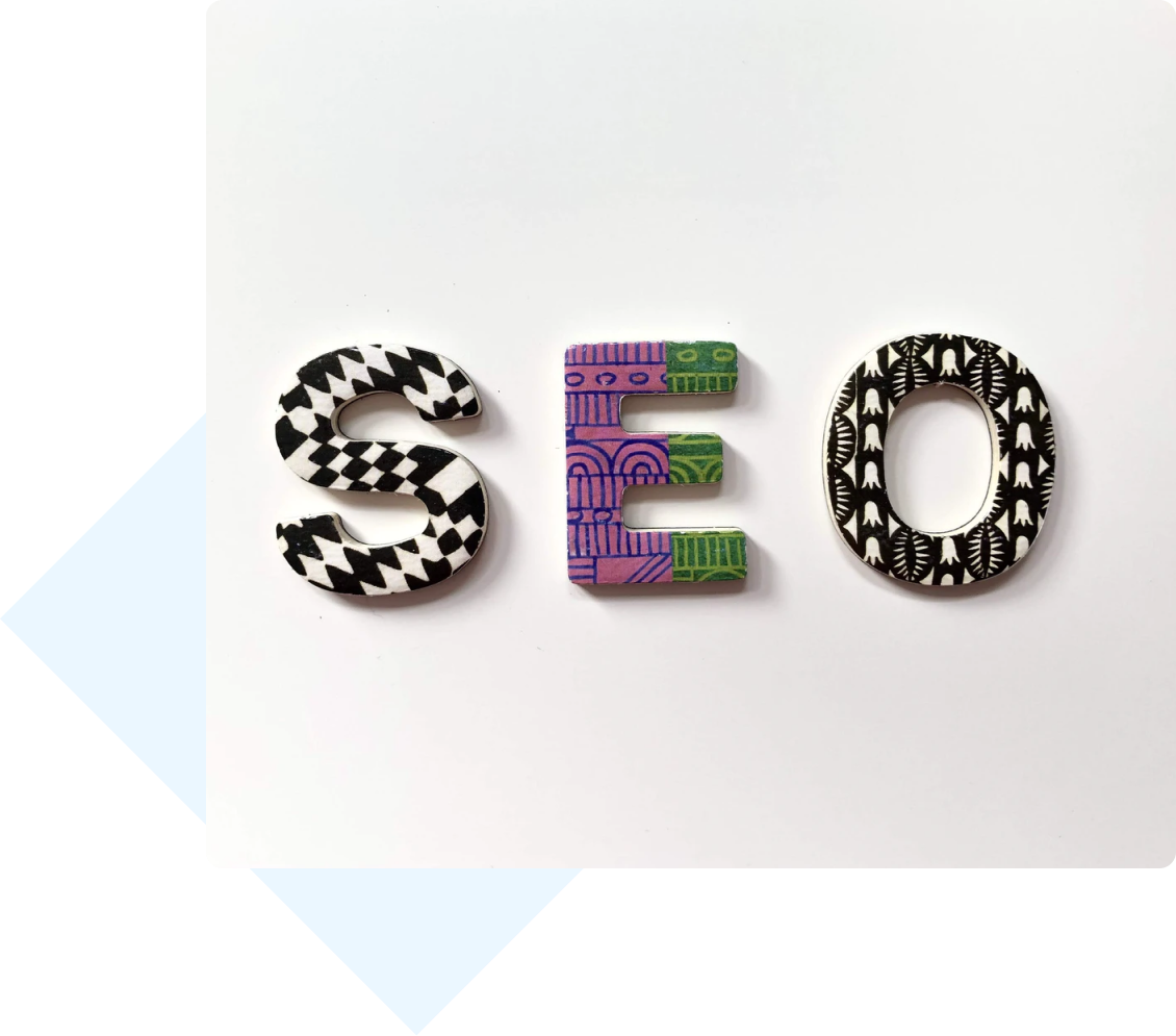 """Photo of a cutout of the letters """"SEO"""""""