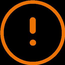 warning orange circle icon