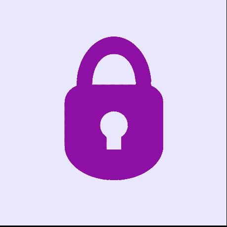 Privacy Icon: Shows a purple lock.