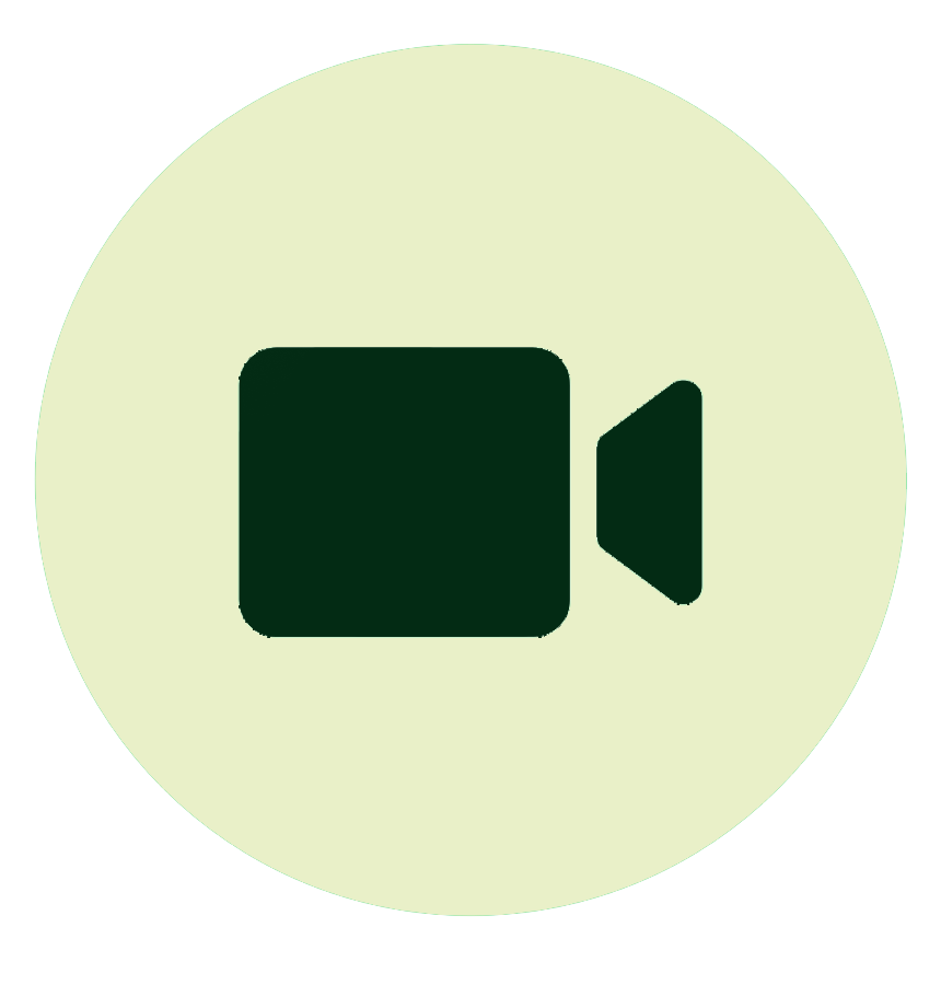 Video call icon: shows a video recorder.