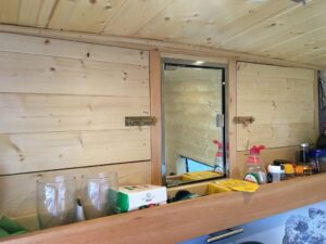 Above the Cab & Bathroom Cabinet the van conversion guide