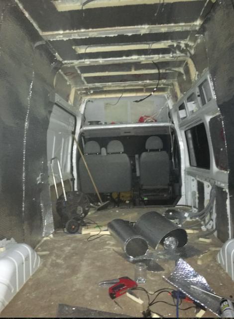Van conversion insulation