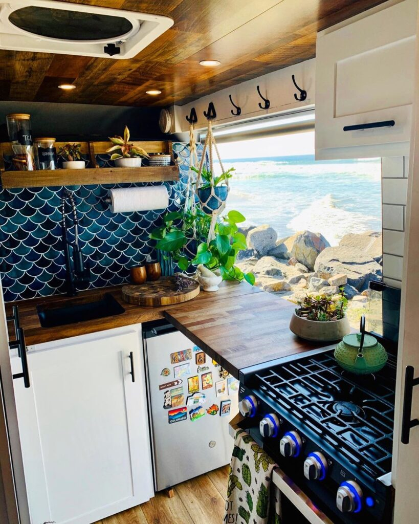 Aaron and Meg's Pro Master Van Conversion Fit for a Luxury Chef the van conversion guide e-book