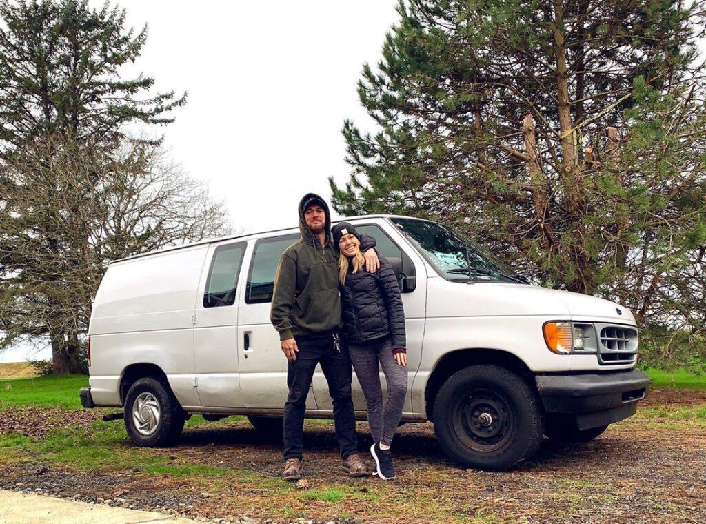 Clayton and Alyssa's Self-Converted 2002 Ford E150 Econoline