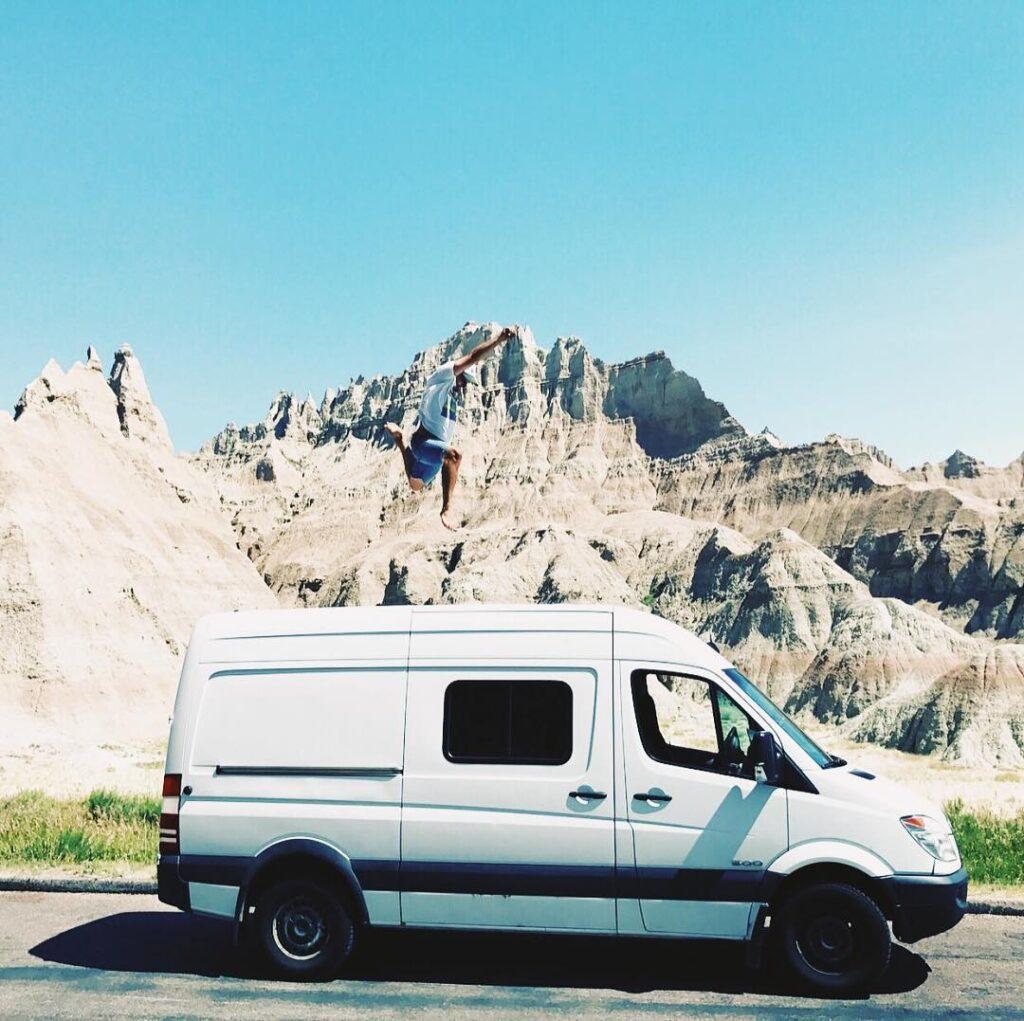 Kara and Cole's Modern Honeymoon 159 Extended ProMaster Van Conversion