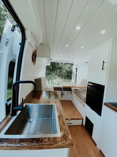 Kara and Cole's Modern Honeymoon 159 Extended ProMaster Van Conversion the van conversion guide e-book