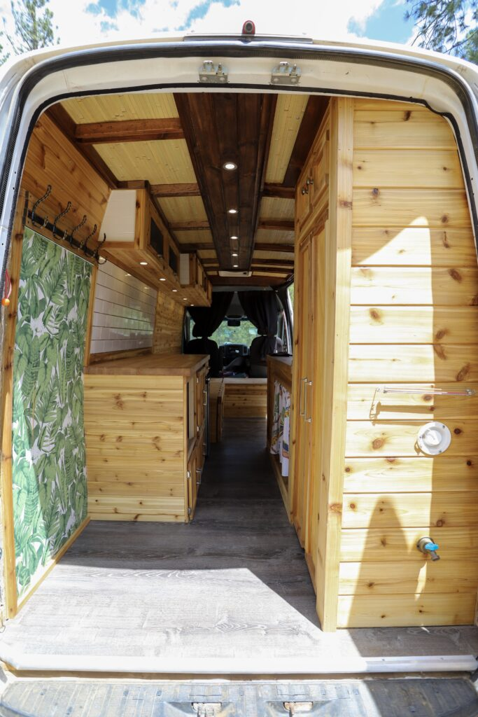 Shane's Beautifully Hand-Crafted Wooden 2013 Mercedes Sprinter Van Conversion the van conversion guide e-book
