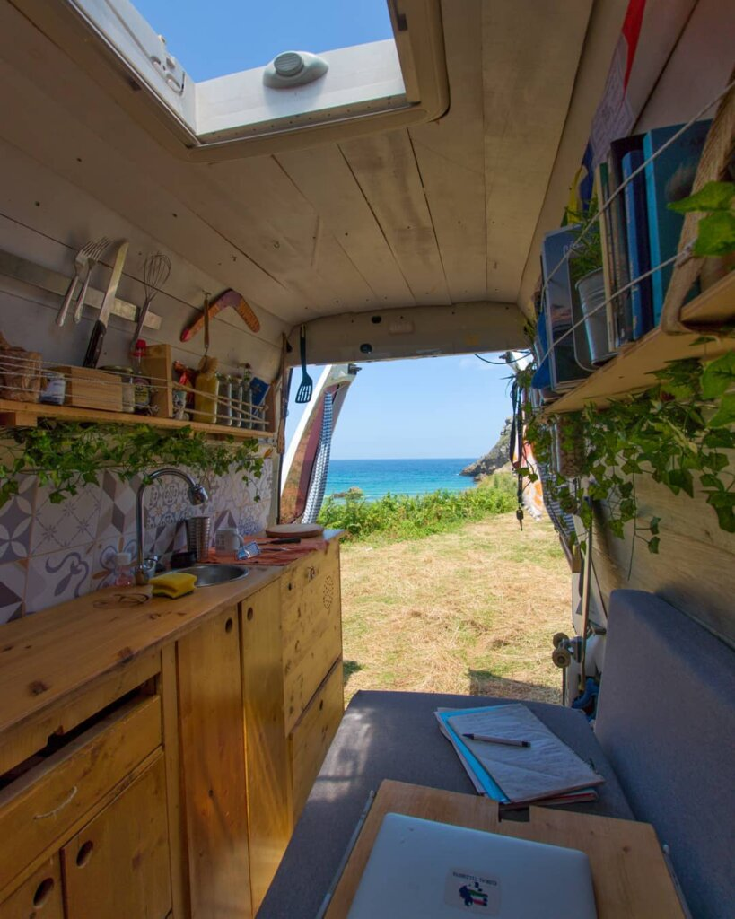 Iñigo's Functional, Self-Converted Volkswagen T4 Fit for a Seasoned Vanlifer the van conversion guide e book