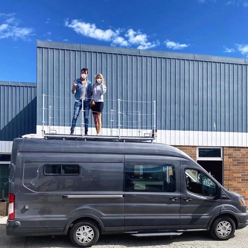 Eric and Kalsey's 'Show on the Road' Ford Transit Van Conversion