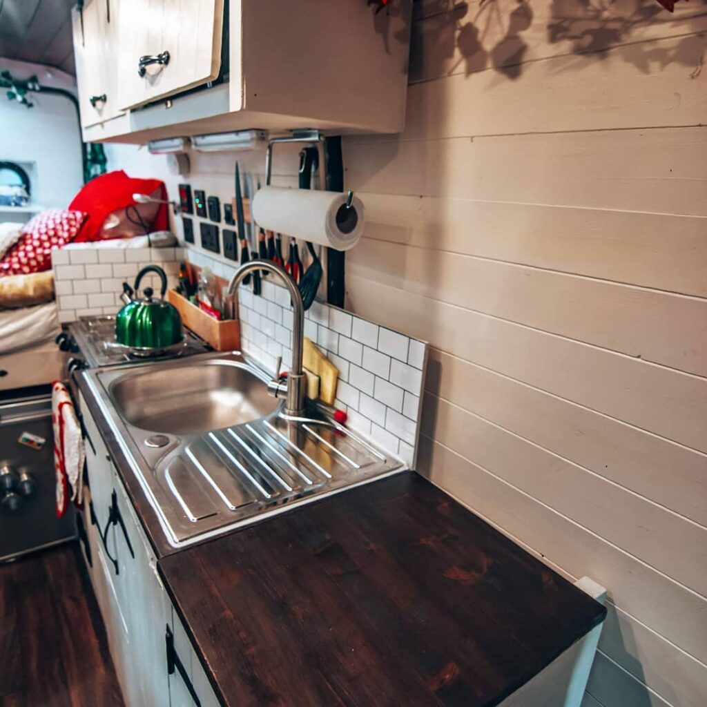 Peugeot van conversion kitchen