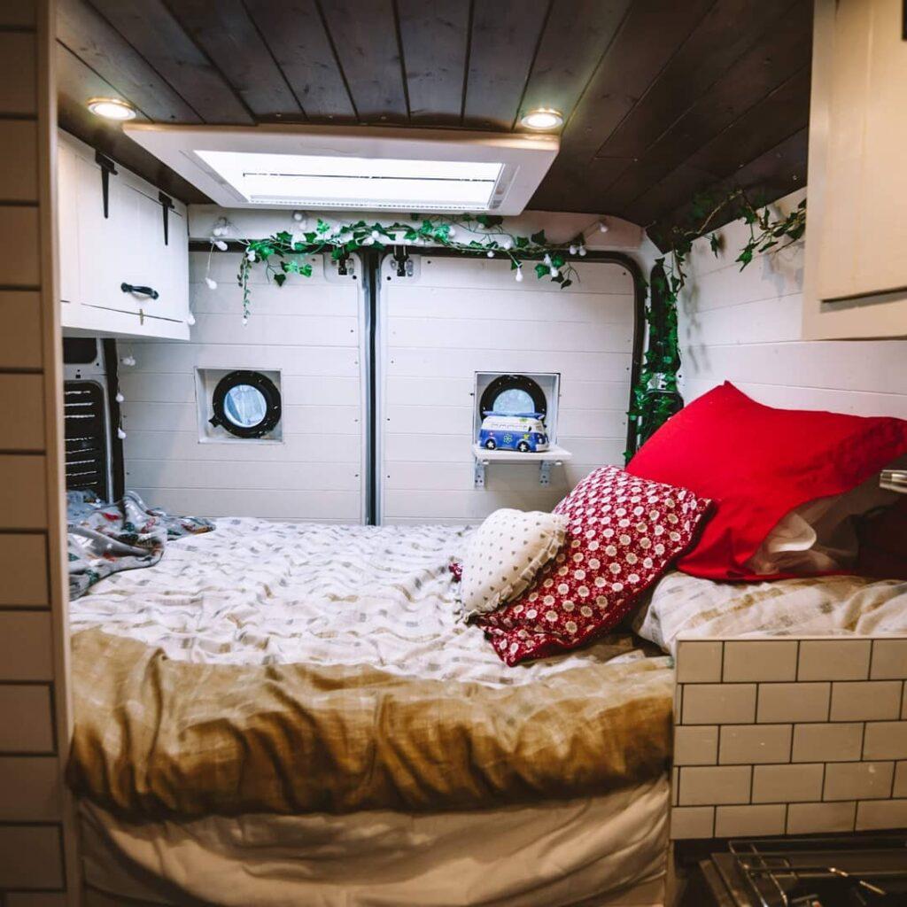 Peugeot van conversion fixed double bed