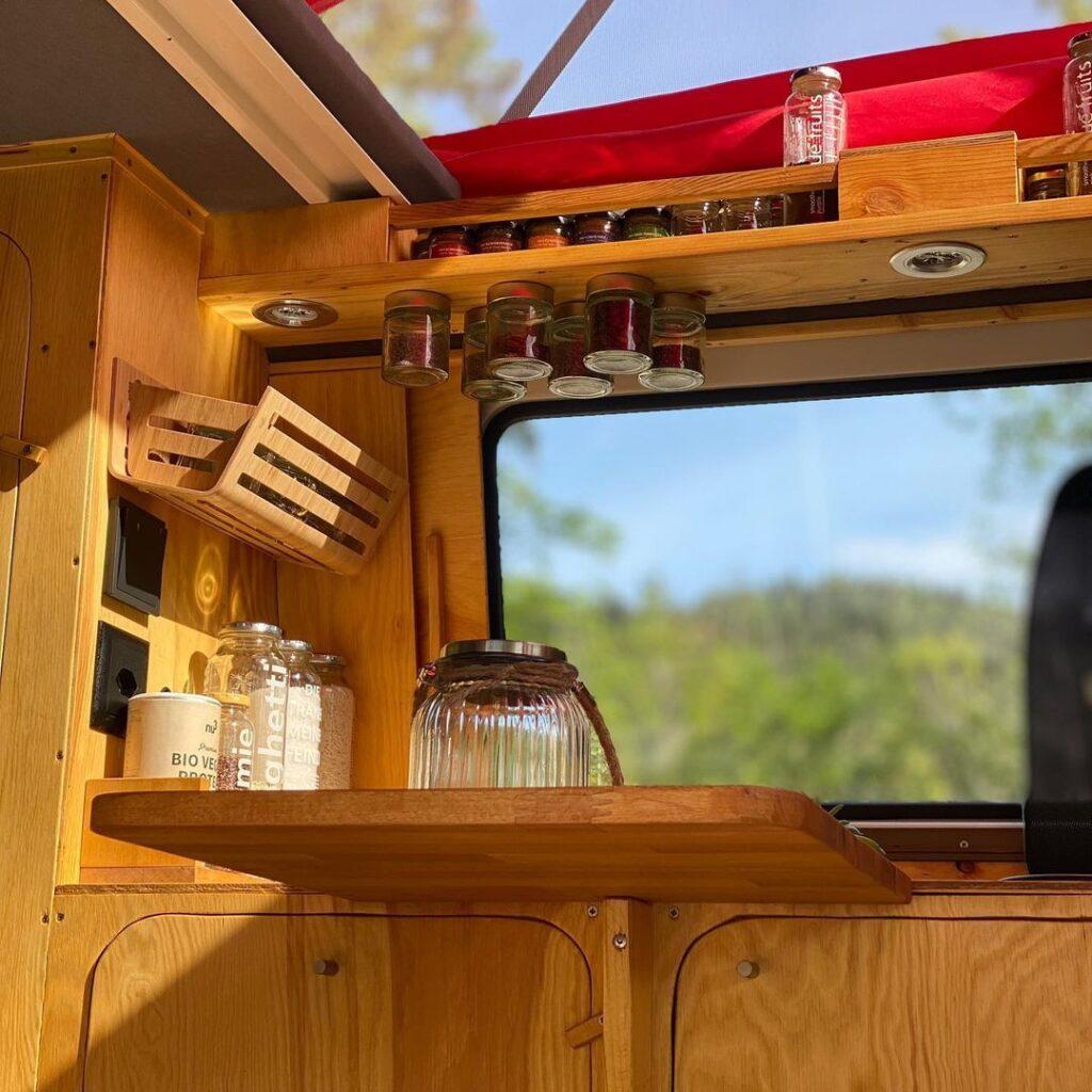 volkswagen bulli conversion kitchen