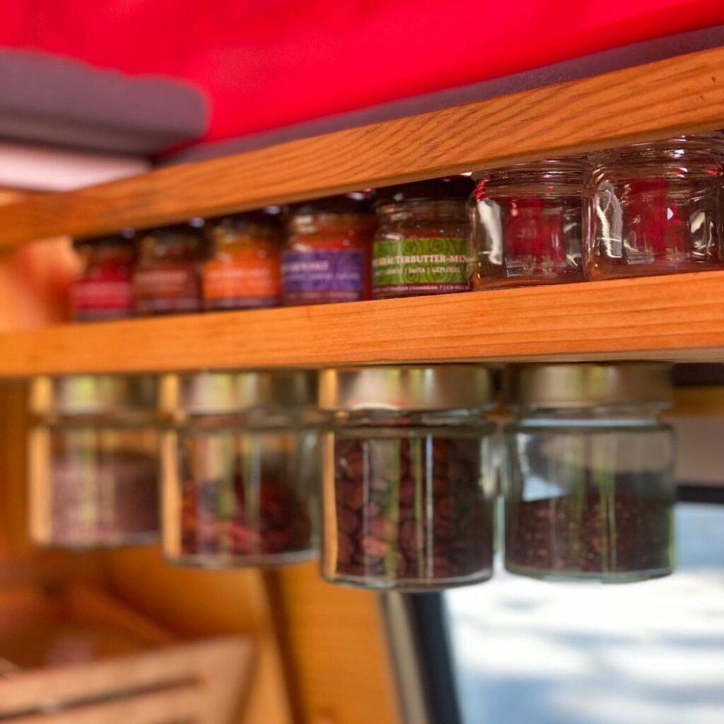 volkswagen bulli hanging spice jars