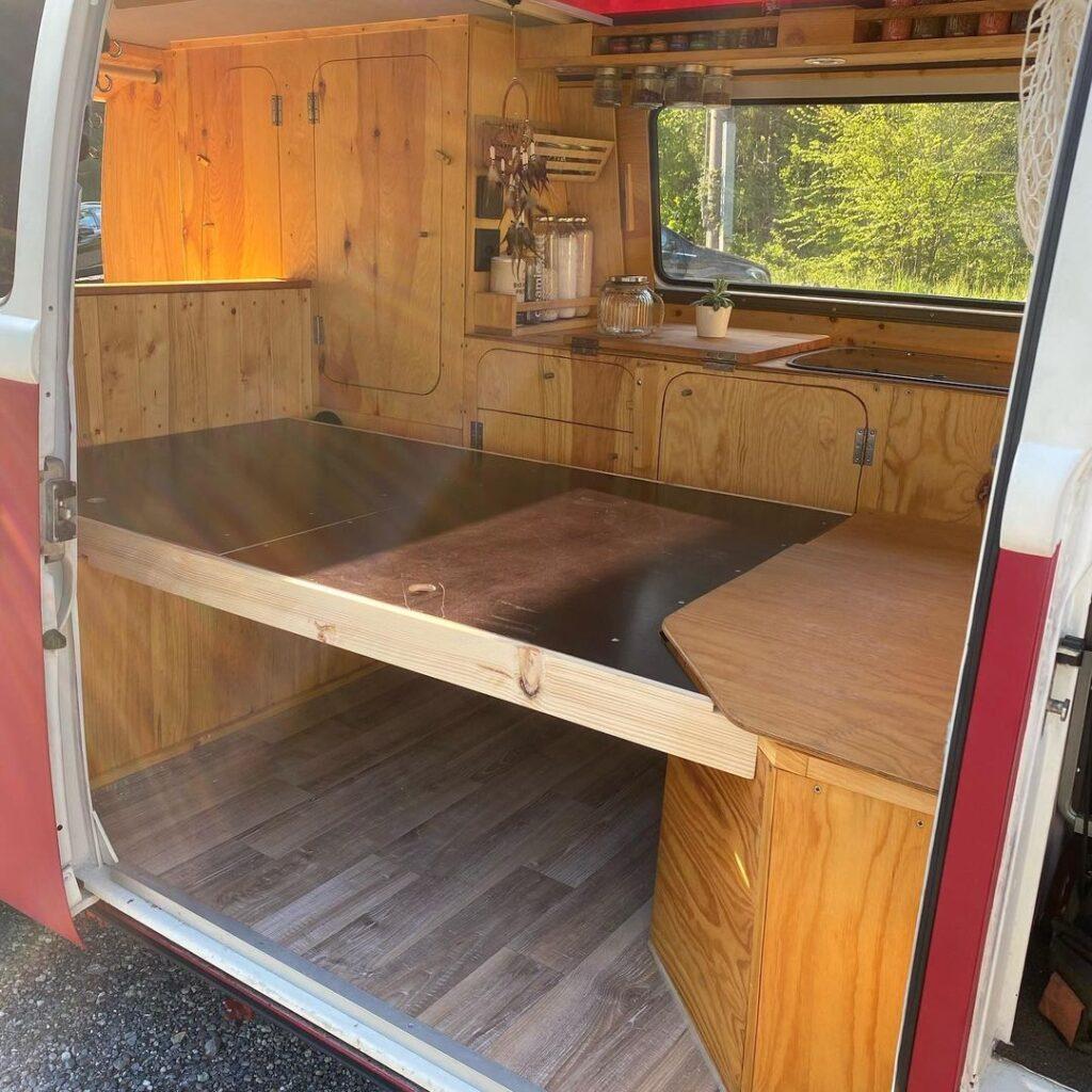 volkswagen van conversion bed frame