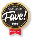 Our town fave badge - finalist 2021