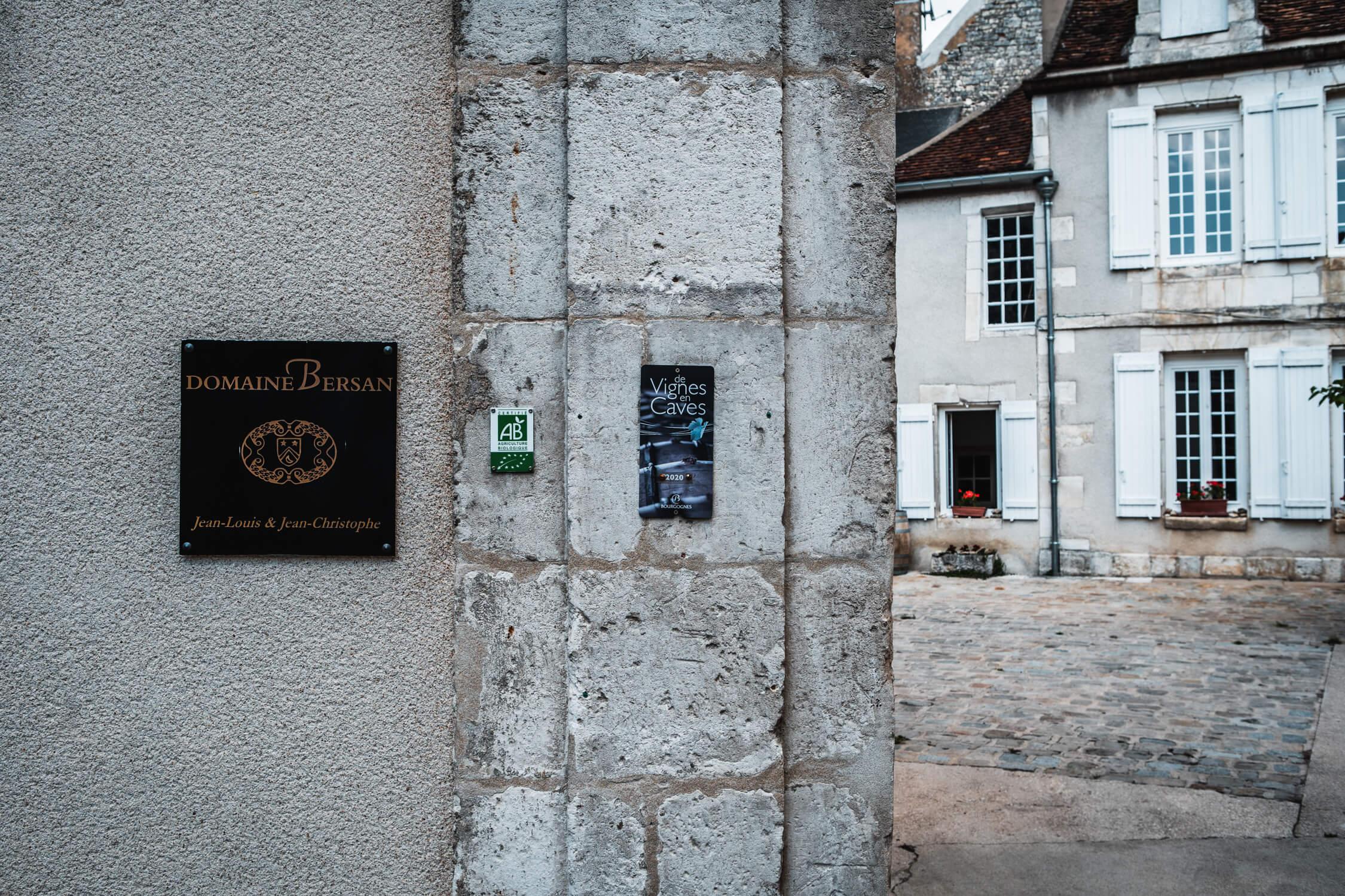 Entrance to Bersan wine estate