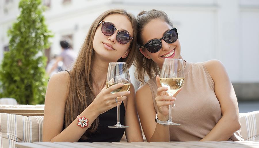 guests tasting wine during visit